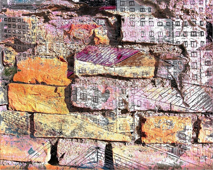 Wall Mixed Media - Wall In City by Yury Bashkin
