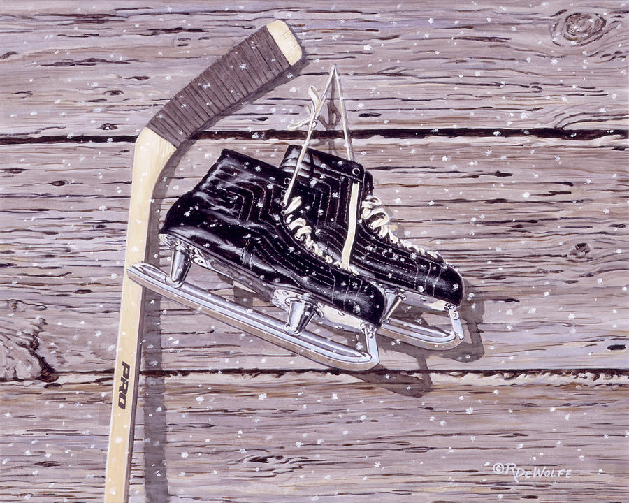 Hockey Painting - Wall Of Fame by Richard De Wolfe