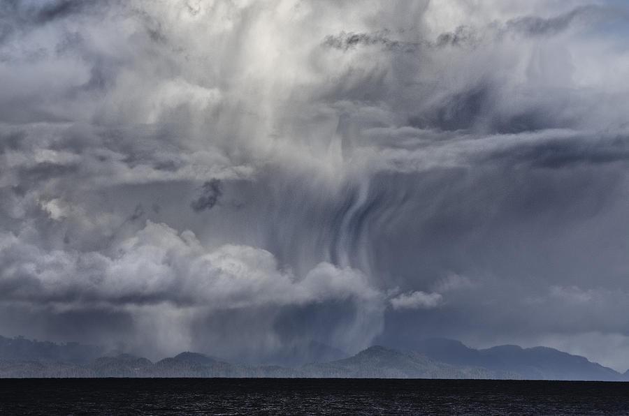 Cloud Digital Art - Wall Of Weather by Darryl Luscombe