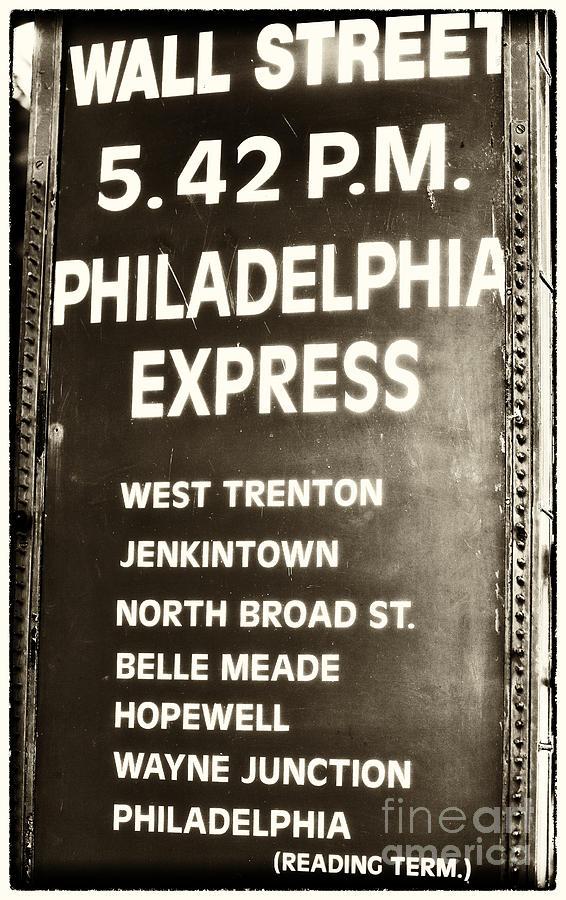 Wall Street Photograph - Wall Street Philadelphia Express by John Rizzuto