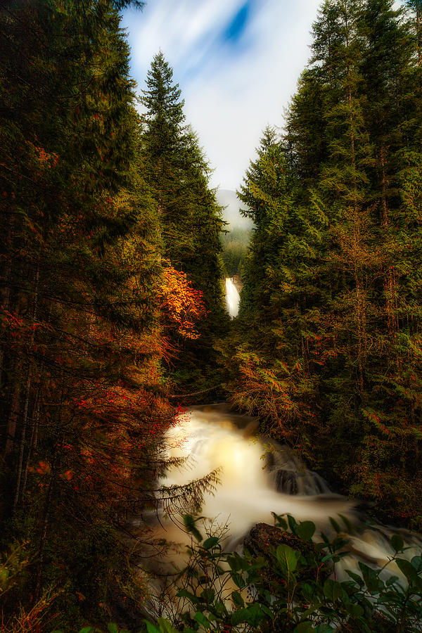 Wallace Falls State Park Photograph - Wallace Fall North Fork by James Heckt