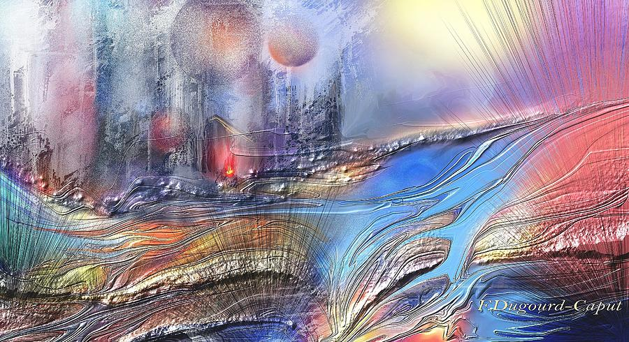 Digital Painting Painting - Wallalah  by Francoise Dugourd-Caput