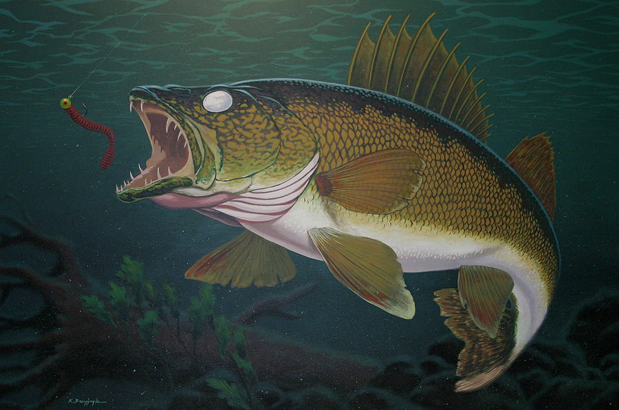 Walleye Fishing Painting by Kevin Breyfogle  Walleye Fishing...