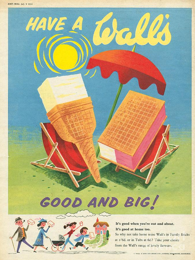 Walls 1950s Uk Ice-cream Drawing by The Advertising Archives