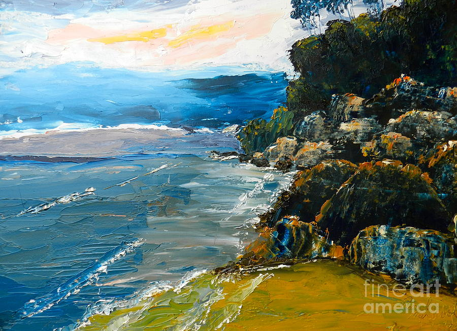 Impressionism Painting - Walomwolla Beach by Pamela  Meredith