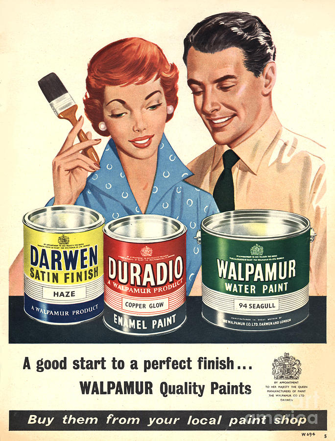 Walpamur 1950s Uk Painting Paint Drawing by The ...