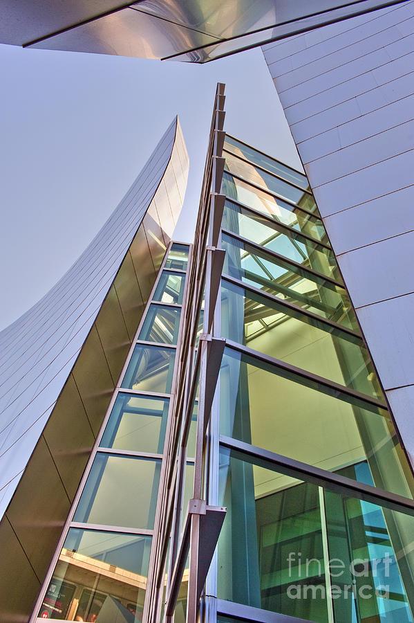 Architecture Photograph - Walt Disney Concert Hall Vertical Exterior Building Frank Gehry Architect 6 by David Zanzinger