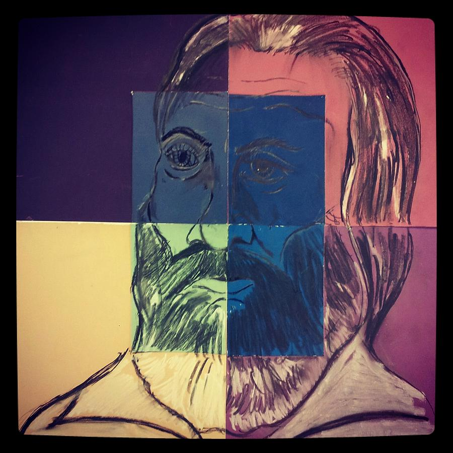 Mixed Media Painting - Walt Whitman In Color by Nickolas Kossup