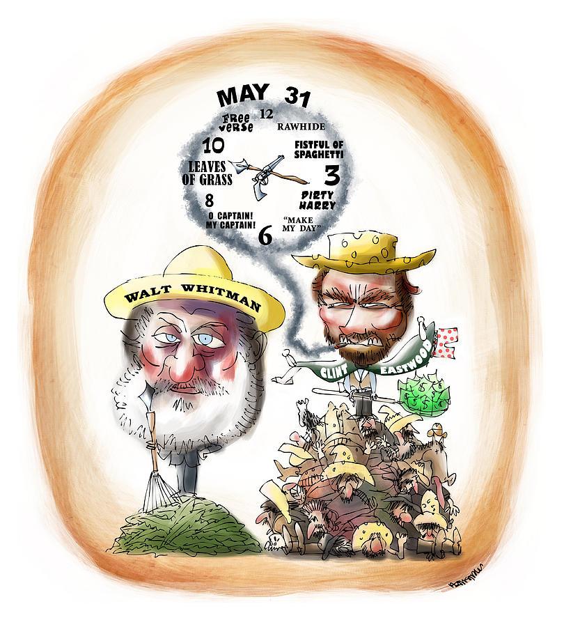 Walt Whitman Digital Art - Walt Whitman Meets Clint Eastwood by Mark Armstrong