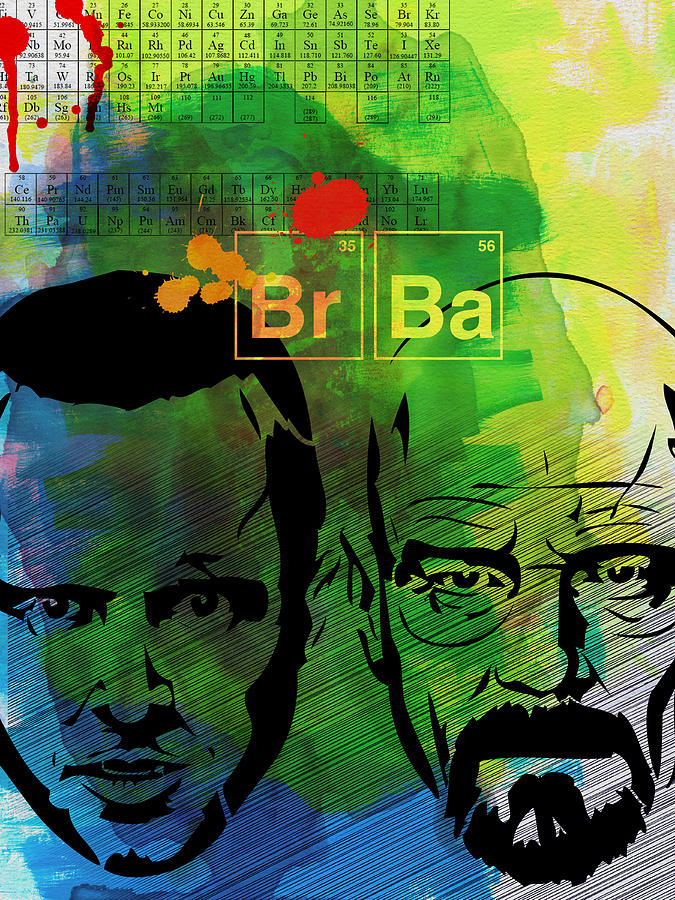 Breaking Bad Painting - Walter And Jesse Watercolor by Naxart Studio