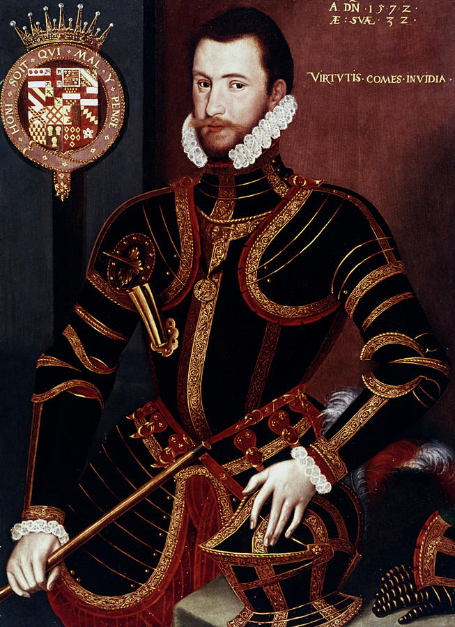1572 Painting - Walter Devereux (1541-1576) by Granger