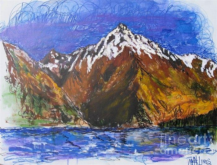 Mountains Painting - Walter Peak Queenstown  by Max Lines