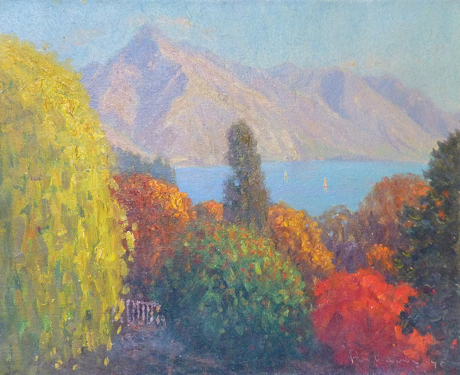 Mountain Painting - Walter Peak Queenstown Nz by Terry Perham