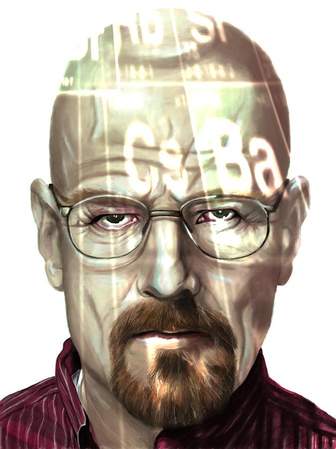 Walter Digital Art - Walter White 2 by Jamie Bishop