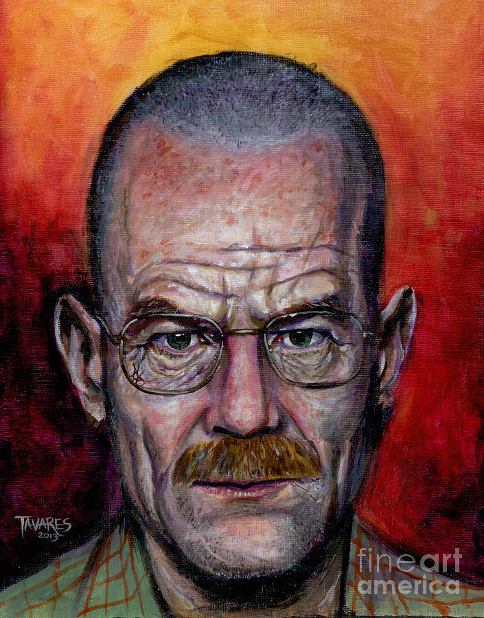 Walter White Painting - Walter White by Mark Tavares