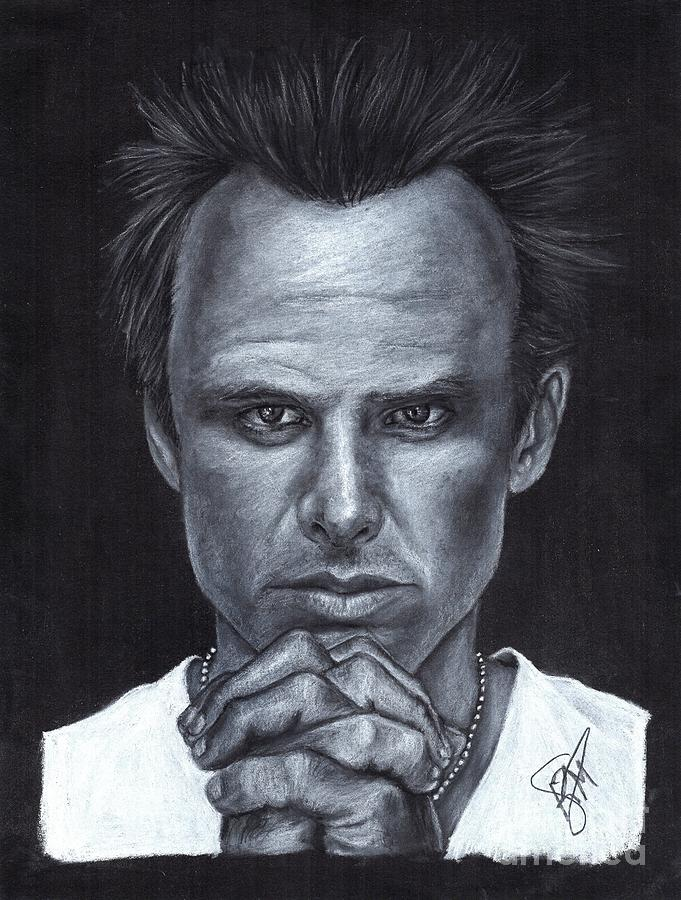 Walton Goggins Drawing - Walton Goggins by Rosalinda Markle