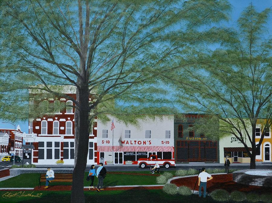 Walton Painting - Waltons 5 And 10 by Clinton Cheatham