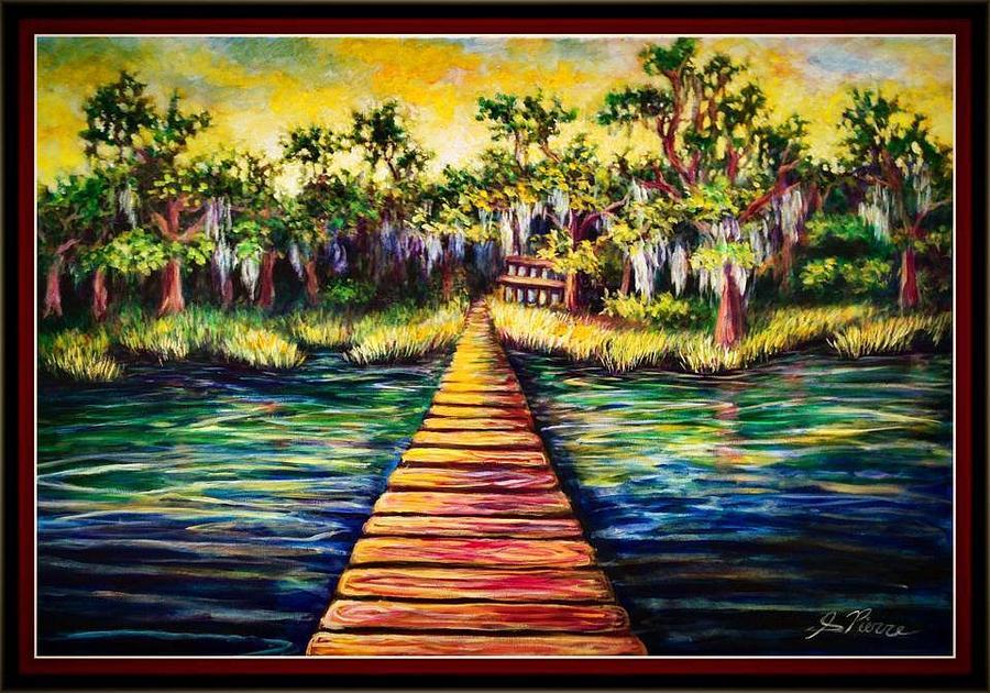 Dock Painting - Walts Dock by Sebastian Pierre
