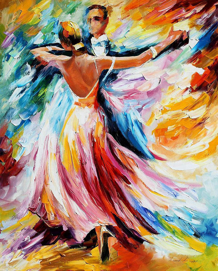 oil paintings painting waltz palette knife oil painting on canvas by leonid afremov by
