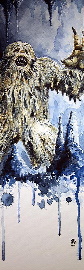 Wampa Painting - Wampa by David Kraig