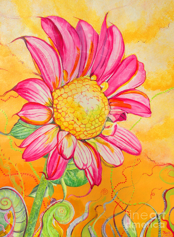 Floral Painting - Wanda The Windblown by Christine Belt