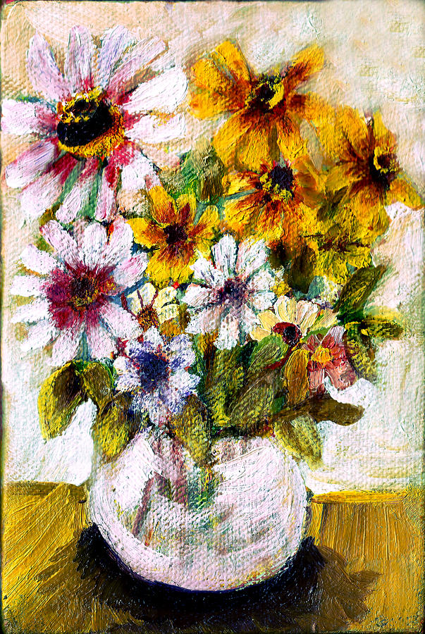 Wandas Flowers 2 Painting by Don Thibodeaux