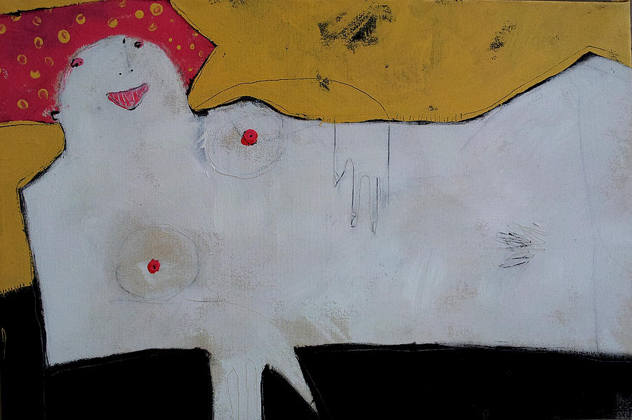 Reclining Woman Painting - Wanderer No. 12 by Mark M  Mellon