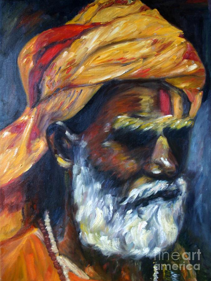 Wandering Painting - Wandering Sage by Mukta Gupta