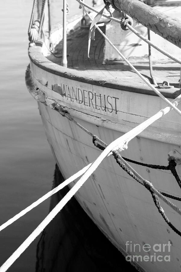 Wanderlust Photograph - Wanderlust Black And White by Amanda Barcon
