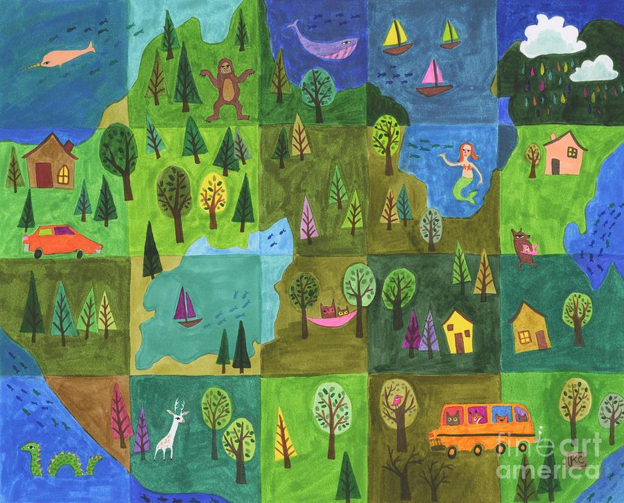 Wanderlust Painting - Wanderlust by Kate Cosgrove