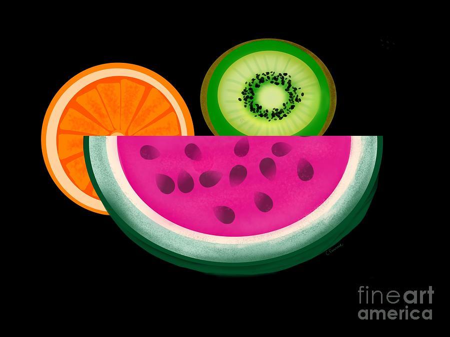 Fruit Digital Art - Want A Slice? by Christine Fournier