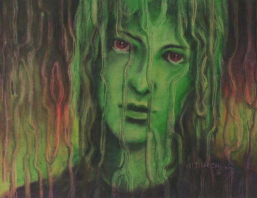 Green Painting - Wanting In by Debra Lynn Birchell