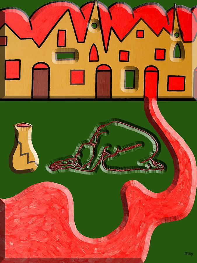 Conceptual Painting - War 3 by Patrick J Murphy