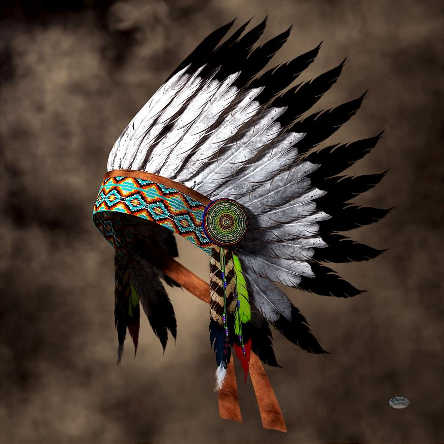 War Bonnet Digital Art - War Bonnet by Daniel Eskridge