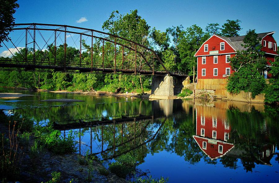 Bridge Photograph - War Eagle Mill And Bridge by Gregory Ballos
