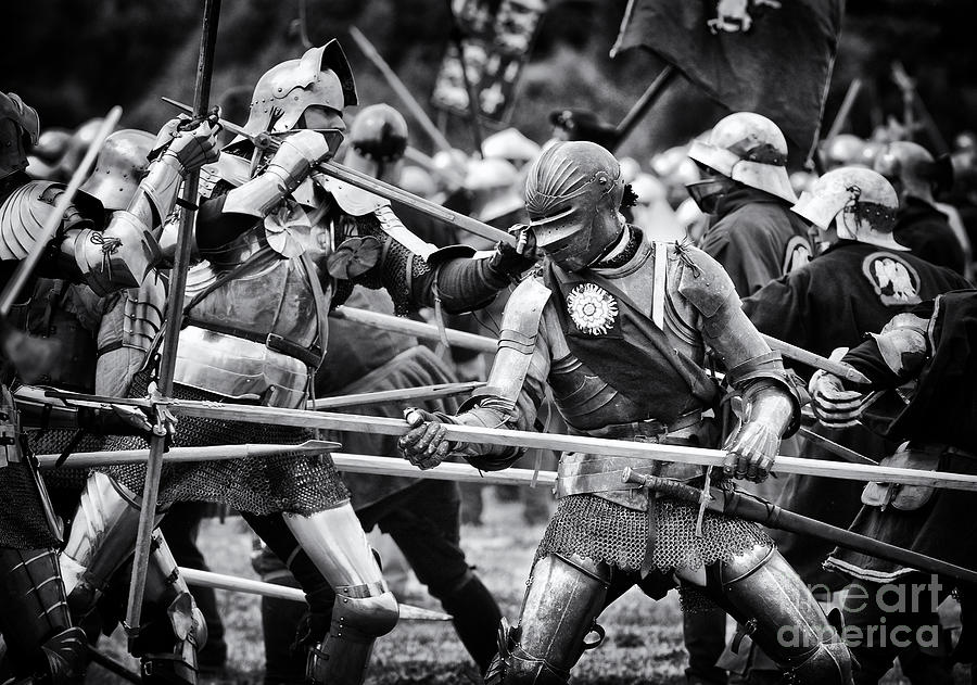 Yorkist Photograph - War Of The Roses Medieval Knights  by Tim Gainey