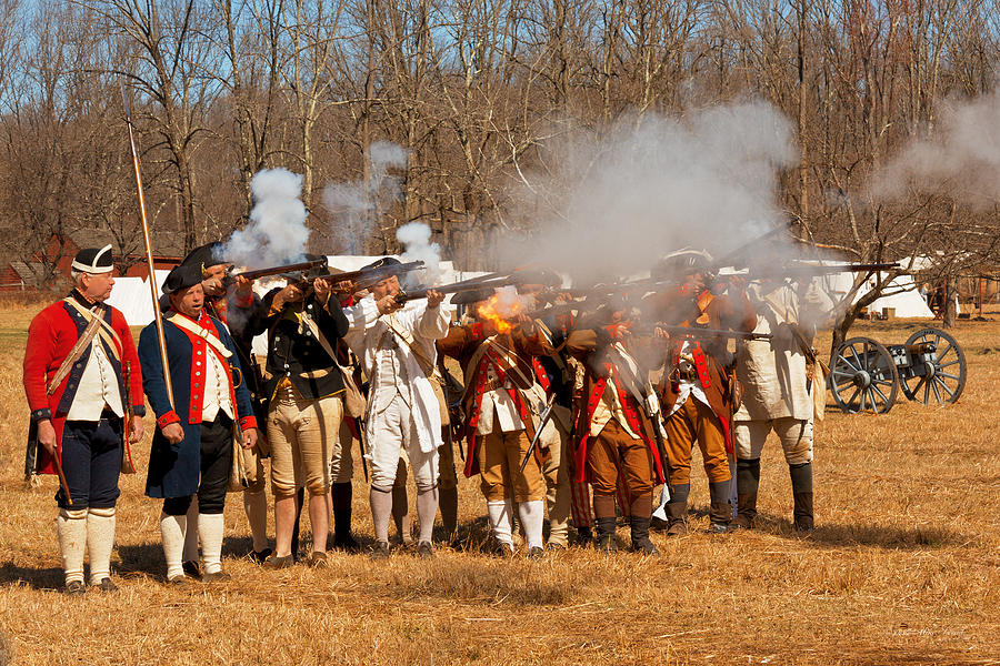 Revolution Photograph - War - Revolutionary War - The Musket Drill by Mike Savad
