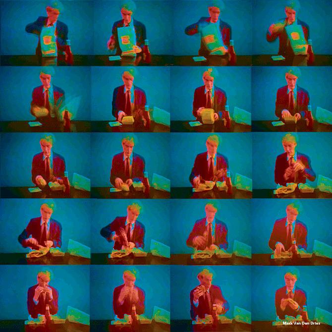 Reprint Digital Art - Warhol Burger King Old School 3d Tnm by Mark Van den dries