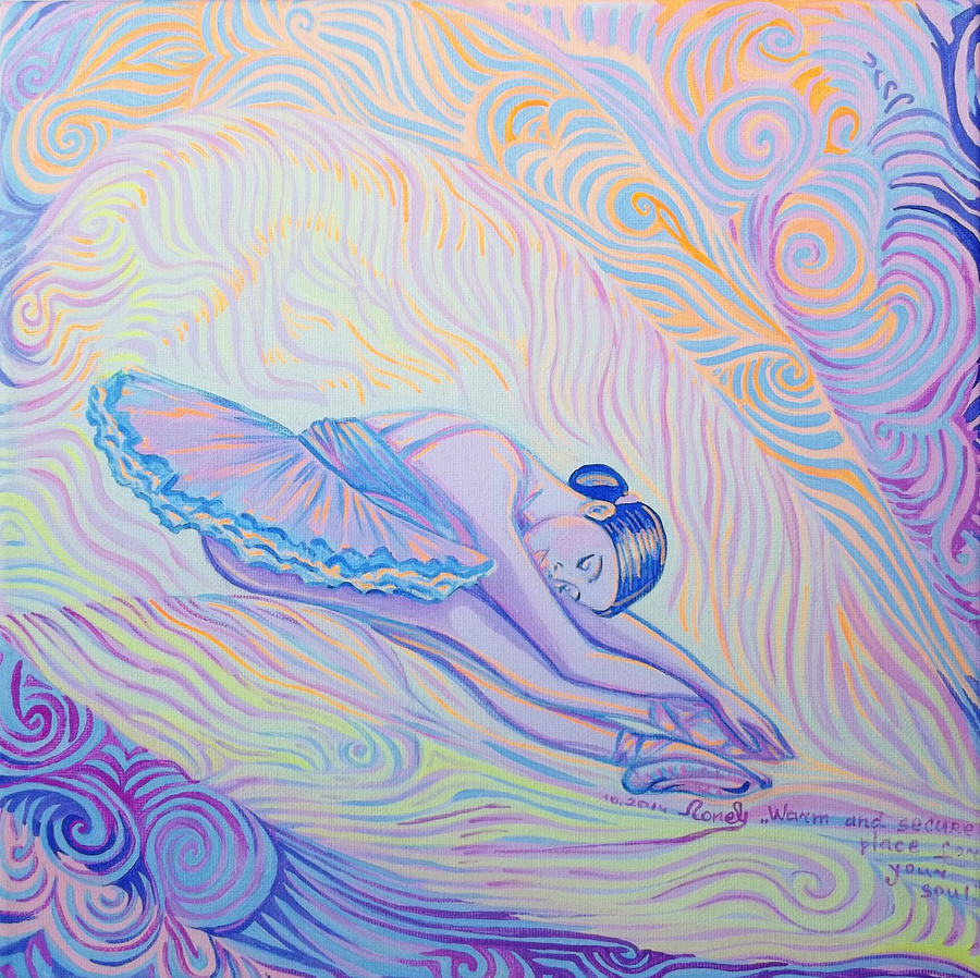 Cosmism Painting - Warm And Secure Place For Your Soul by Lola Lonli