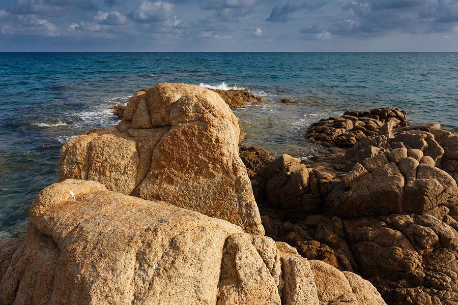 Sardinia Photograph - Warm granite by Paul Indigo