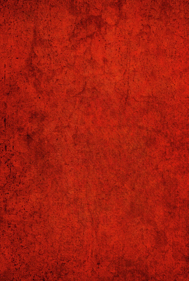 Warm Red Textured Background by Kathy Collins