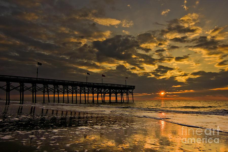 Sunrise Photograph - Warm Sunrise by Matthew Trudeau