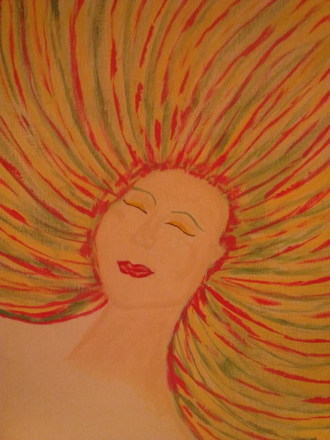 Faces Painting - Warm Thoughts by Erica  Darknell