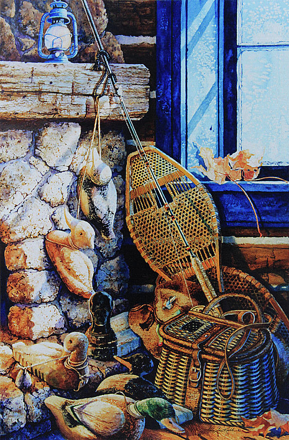 Masculine Still Life Paintings Painting - Warm Winter Wishes by Hanne Lore Koehler