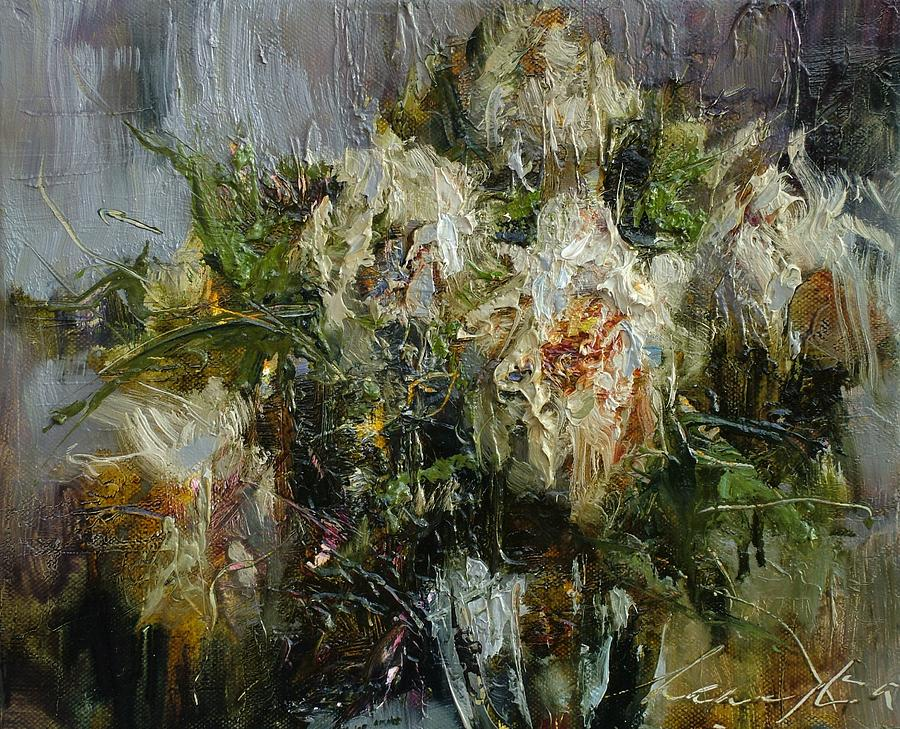 Artwork Painting - Pleasant Warmth Of Peonies by Andras Manajlo