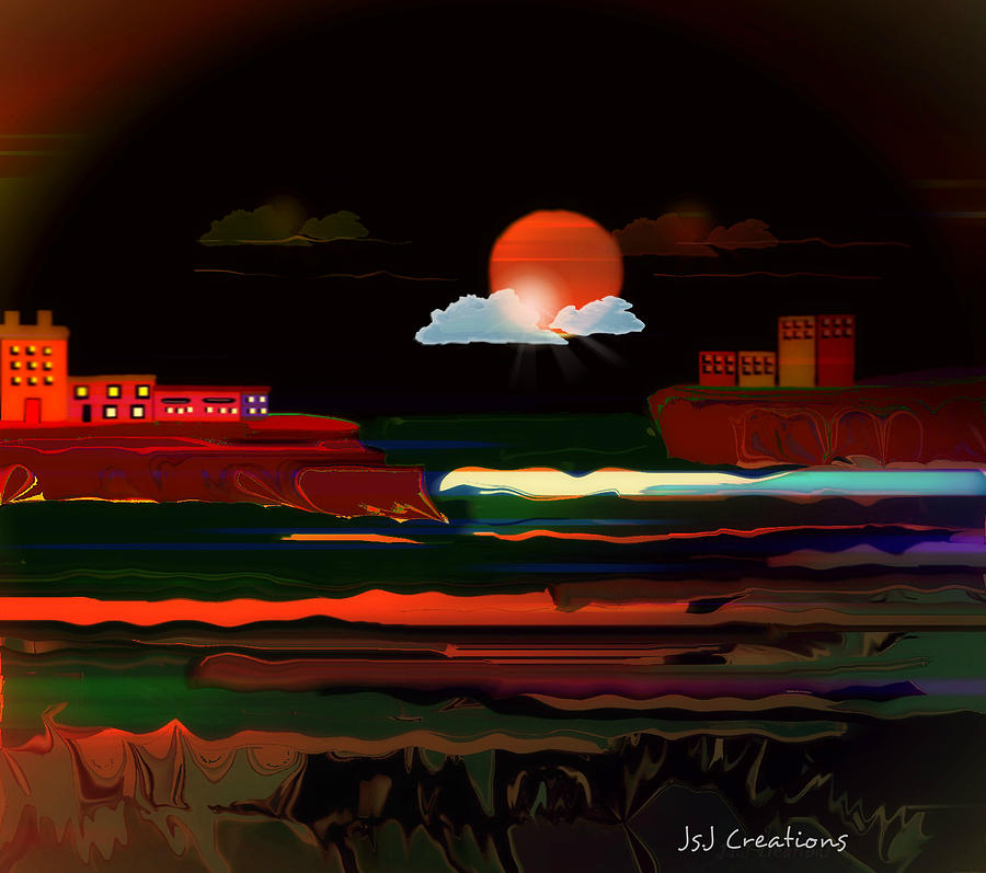 Moonlight Digital Art - Warmth Of The Orange by Jan Steadman-Jackson