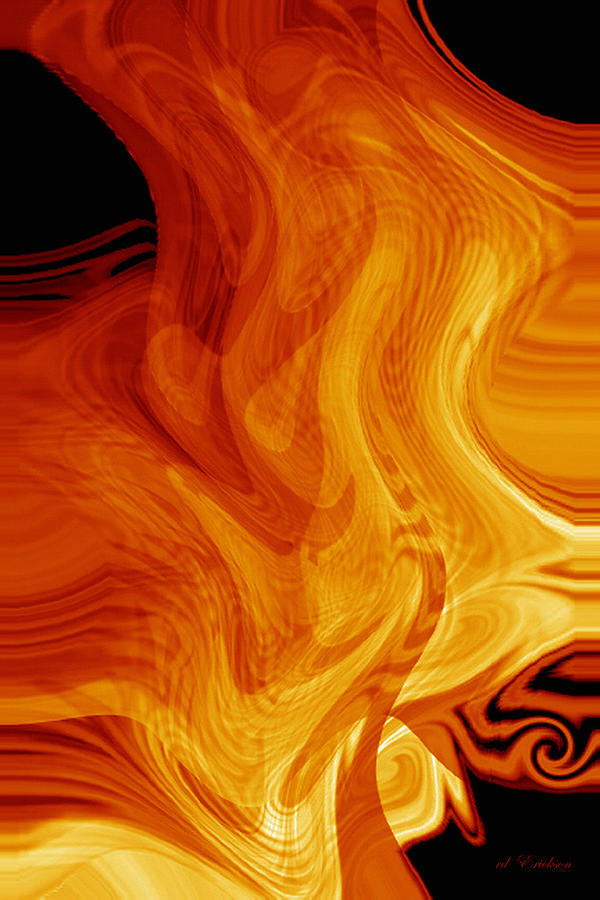 Fire Digital Art - Warmth by rd Erickson