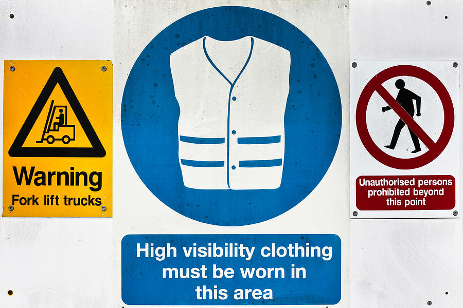Background Photograph - Warning Signs by Tom Gowanlock