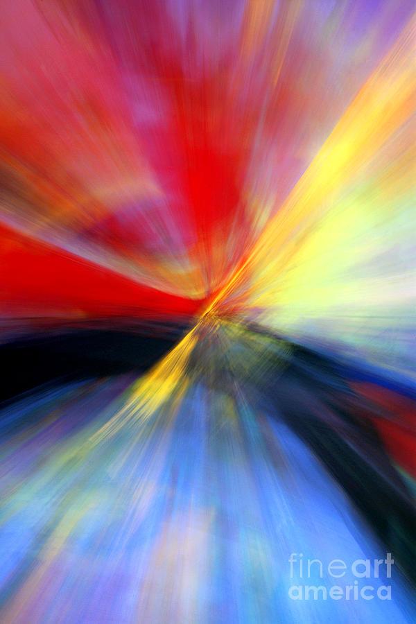 Light Painting Photograph - Warp Drive by Douglas Taylor