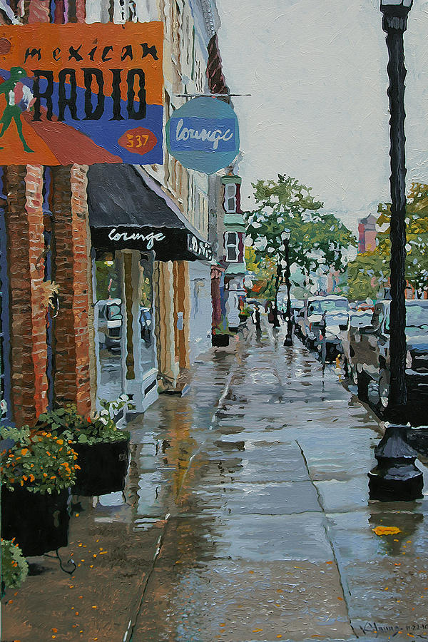 Hudson Ny Painting - Warren Above Fifth by Kenneth Young